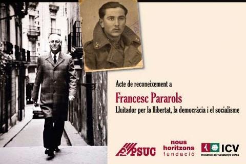 JEV lamenta la mort de Francesc Pararols, històric dirigent del PSUC a Girona
