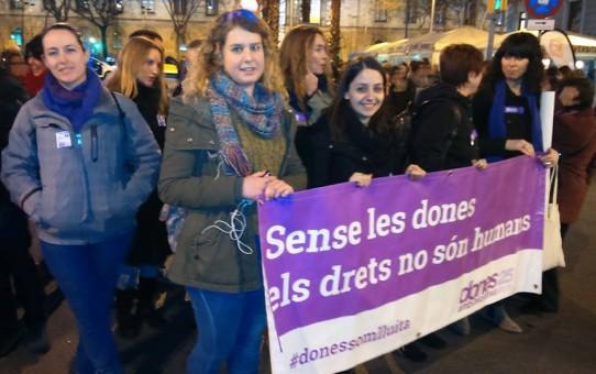 JEV participa a les mobilitzacions del 8 de març, Dia Internacional de les Dones Treballadores