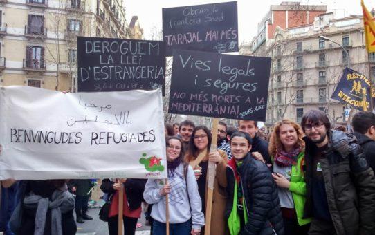 Volem vies legals i segures, no més morts a la Mediterrània!