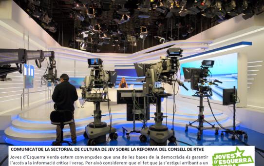 Comunicat de la sectorial de cultura sobre la reforma del consell de RTVE