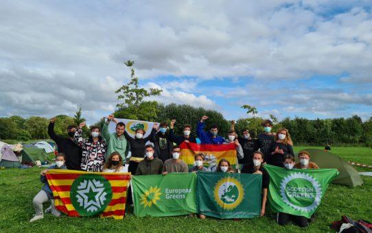 Joves Ecosocialistes participa en una acció d'Ende Gelände